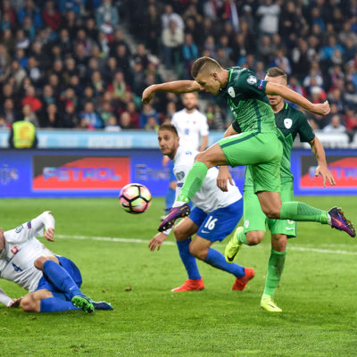 Roman Bezjak of Slovenia during the FIFA World Cup Group F Qualifier match between Slovenia and Slovakia at Stadion Stozice, Ljubljana 8 Oct 2016