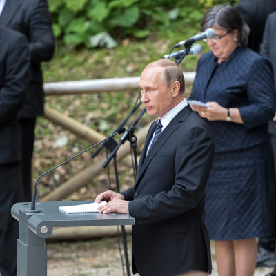 Russian President Vladimir Putin and President of Slovenia Borut Pahor took part in a memorial ceremony marking the 100th anniversary of a Russian Chapel built near the Vršič Pass in memory of Russian soldiers who died building the mountain pass as war prisoners during the First World War