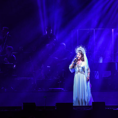 Sarah Brightman performing live at Gala Christmas concert